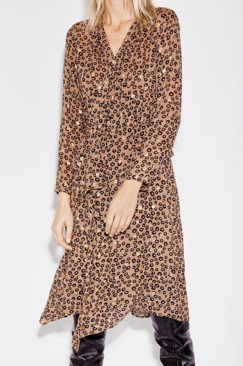 volanger volanger volanger Ambiente Fashion kjole Munthe leomønstret leomønstret leomønstret leomønstret med brun 'Nile' xXwqx4Y8Z