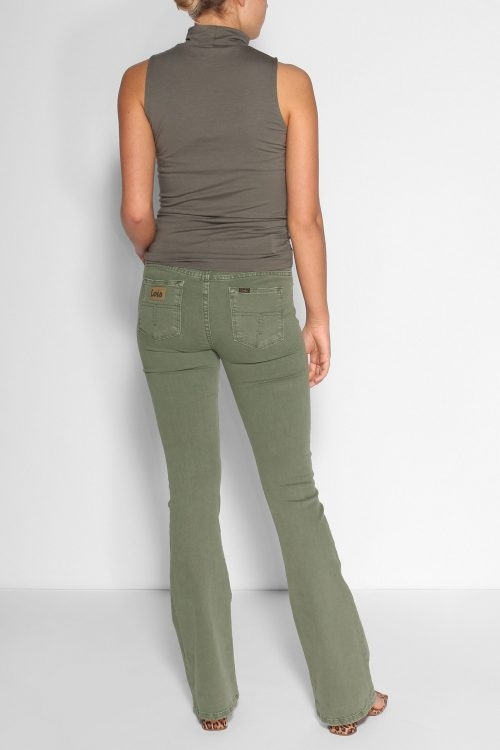 Lois Grønn 'Raval' flare bukse i kvalitet 'megalia blush' L32