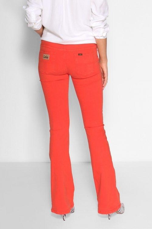 Lois Cayenne red 'Raval' i Megalia Blush kvalitet flare bukse L34