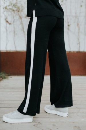 Ella&il Sort 'Selma Wool Pants' Bukse