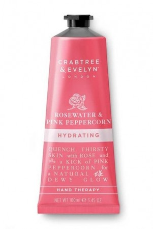 Crabtree & Evelyn Rosewater (rosevann) & Pink Peppercorn håndkrem 100 ml