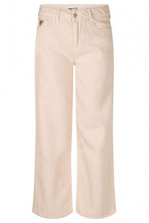 Lois Angel wing (dus rosa) 'Flow new Culotte' cropped canvas-lin vid bukse