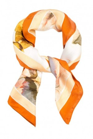 Katrin Uri 'The Artist orange silk scarf'