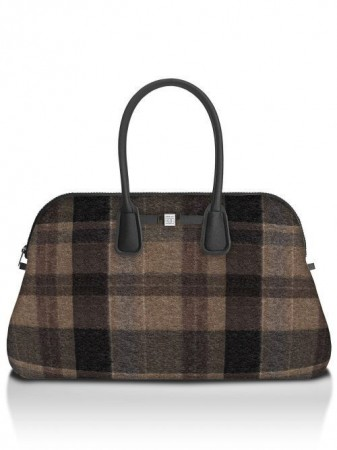 Save My Bag Wool brown rutet 'Principe' weekendbag