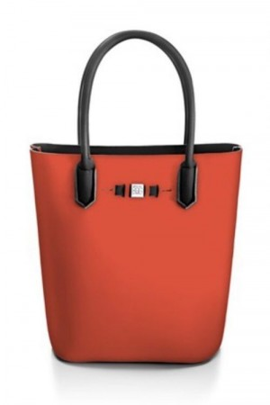 Save My Bag Brick red 'Popstar' shopper