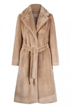 Ella&il Beige Juciy Fake Fur Jacket