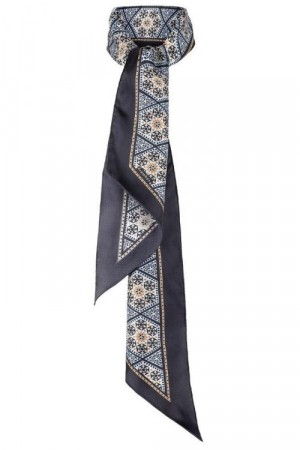 Framhus 'Joni Angel Blue Silk-Twill Scarf'