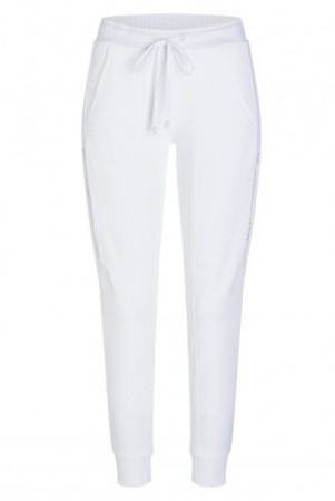 Cambio Ivory sporty sweat pants 'Jordan' med glidelås